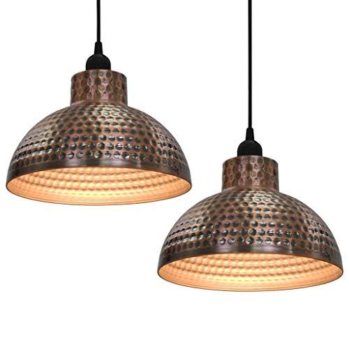 GoodWork4UEu Plafondlampen, 2 stuks, halfrond, koperkleurig, voor huis en tuin, verlichting