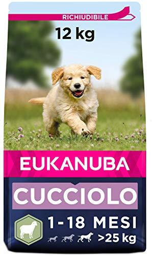 Eukanuba Cibo secco per cuccioli di taglia grande, ricco di agnello e riso, 12 kg