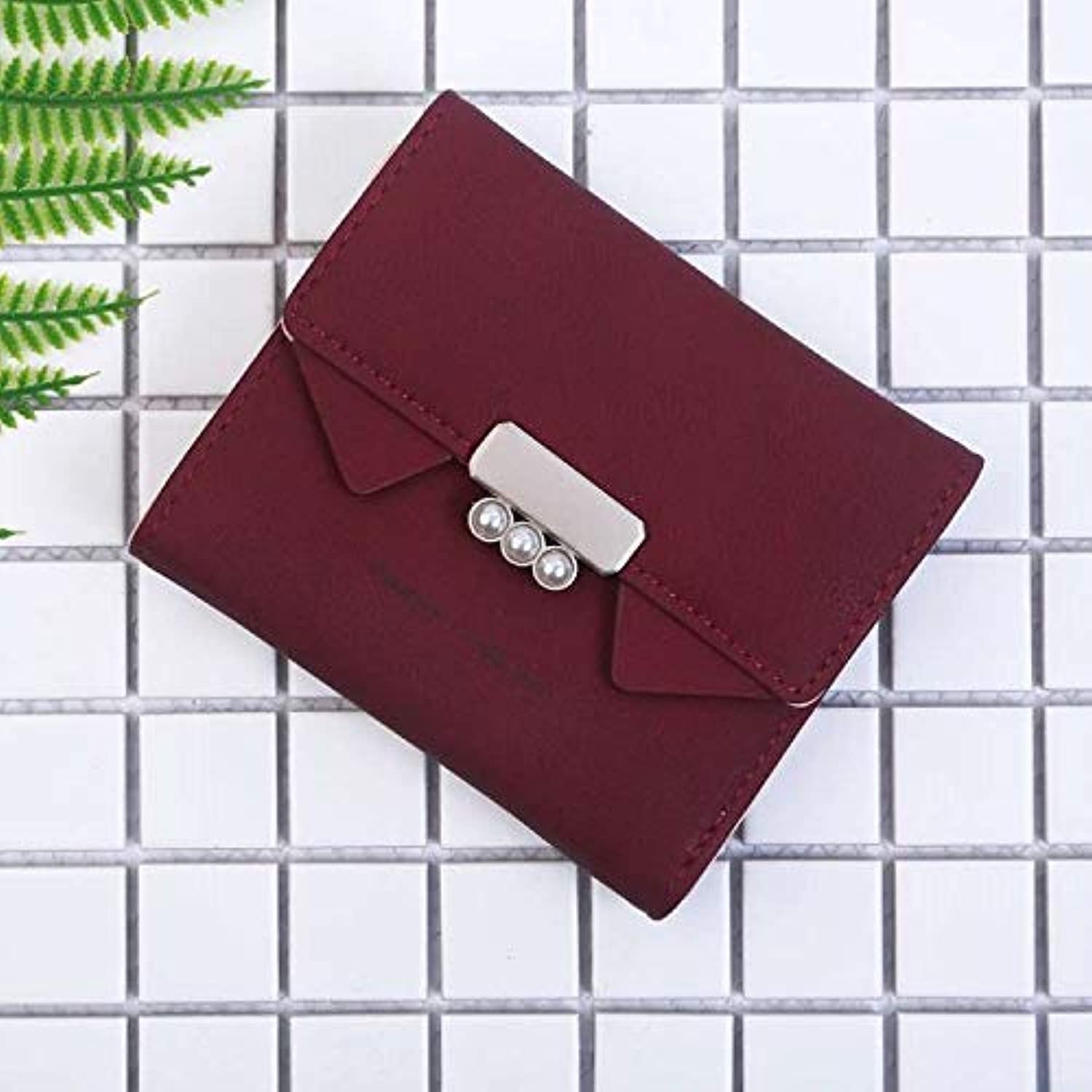 Fashion Cute cat Ears Short Wallet Vintage Ladies MultiFunction Student Wallet Purse (color   Red) Ladies Purses (color   Red)