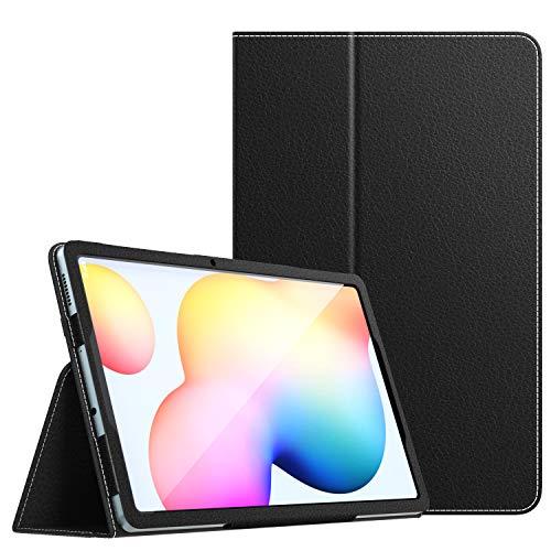 MoKo Funda compatible con Galaxy Tab S6 Lite, Ultra Slim Función de Soporte Plegable Smart Cover Stand Case compatible con Galaxy Tab S6 Lite 10.4 2020 SM-P610/P615 Tableta - Negro