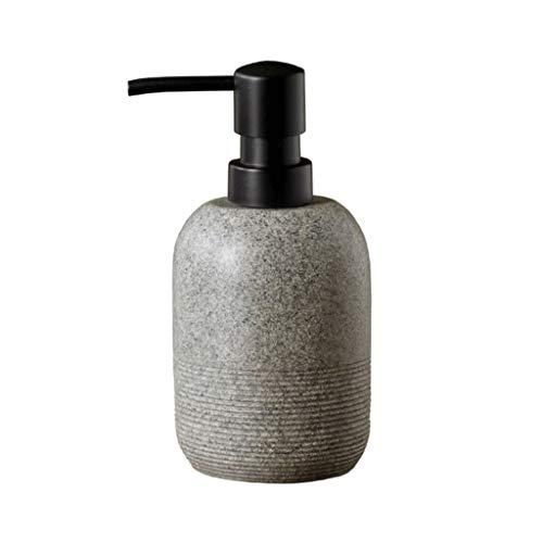 Bomba de ducha Dispensador de jabón de resina, resina de poli, encimera manual de minimalista decorativo for la cocina Baño Casa del hotel Los niños Diseño Oficina de 8,4 oz bomba dispensadora de jabó