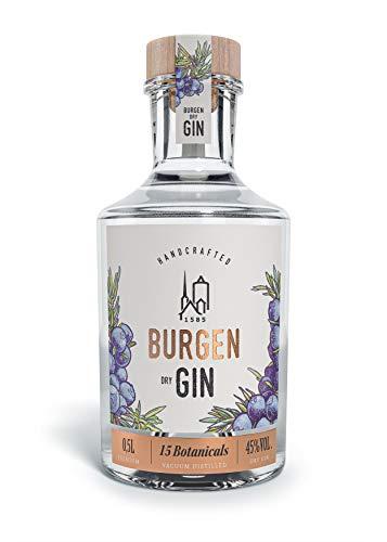 Burgen Drinks Dry Gin Bio klassisch fruchtig mit Wacholder, Orange, Grapefruit & Lavendel (1 x 0.5 l)