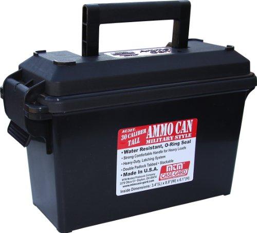 MTM AC30T-40- 30 Caliber Tall Ammo Can (Black)