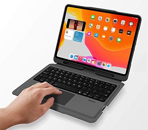 para iPad 10.2 2020/2019 Funda De Teclado, Teclado Inalámbrico Desmontable Magnéticamente con Soporte De Kickstero Y Titular De Lápiz.