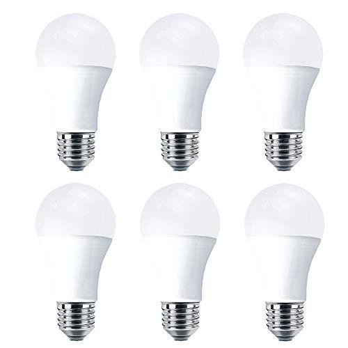 E27 LED Bulbs 100W Equivalent, 14W LED Edison Screw Light, Cool White 6000K, Super Bright 1200Lm, Non-Dimmable, Energy Saving Light Bulbs, 6-Pack (Cool White 6000k)