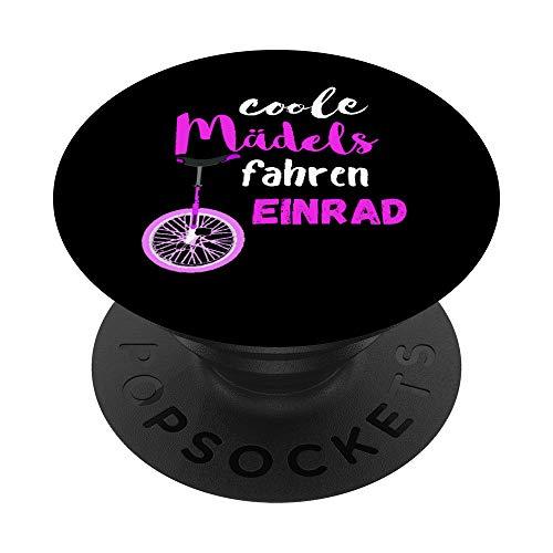 Coole Mädels Fahren Einrad Fahrerin Zirkus Balancieren - PopSockets Ausziehbarer Sockel und Griff für Smartphones und Tablets