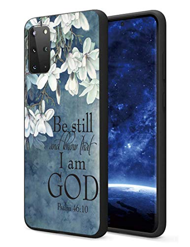 Galaxy S20 Plus Case, S20 Plus 5G Case, Slim Impact Resistant Shock-Absorption Silicone Protective Case Cover for Samsung Galaxy S20 Plus (2020) 6.7 Inch - Christian Quotes Bible Verse Psalm 46:10