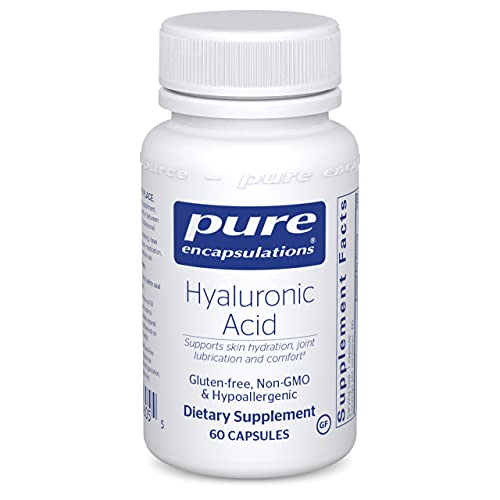 Pure Encapsulations Hyaluronic Acid   Supplement to Support Skin Hydration, Joint Lubrication, and Comfort*   60 Capsules