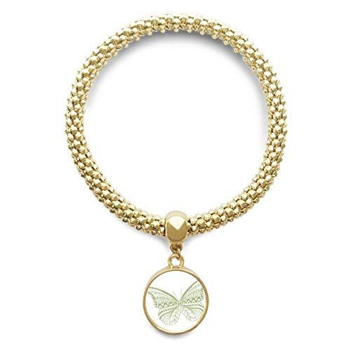 DIYthinker Damen Grüne Schmetterlings-Drachen Goldene Armband Laufende Anhänger Schmuck-Kette