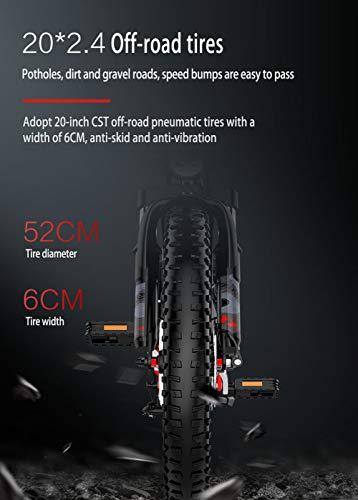 412Wq45F6CL - YMWD 20 Zoll Klapprad E-Bike 400W Fettreifen Elektrofahrrad Mountainbike Für Herren Und Damen Mit 48V 10.4-12.8Ah Lithium-Batterie Bis Zu 120 Km Reichweite Citybike