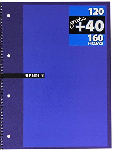 Enri 100430093 - Cuaderno microperforado, A4, 160 hojas, color Surtido