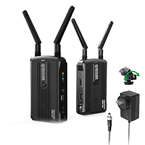 Wireless HDMI Video Transmission System, Hollyland Mars 300 5G Image Transmitter and Receiver Kit Support HD 1080P 300 Feet for Vlog, Live Streaming, Multi-Camera Production
