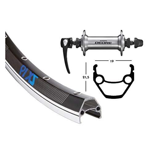 Bike-Parts Unisex - Bicicleta Deore para Adultos, Color Negro y Plateado, 28 Pulgadas
