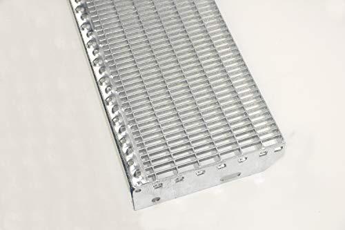 Treppenstufe Gitterroststufe verzinkt 1000x270 mm 30/10