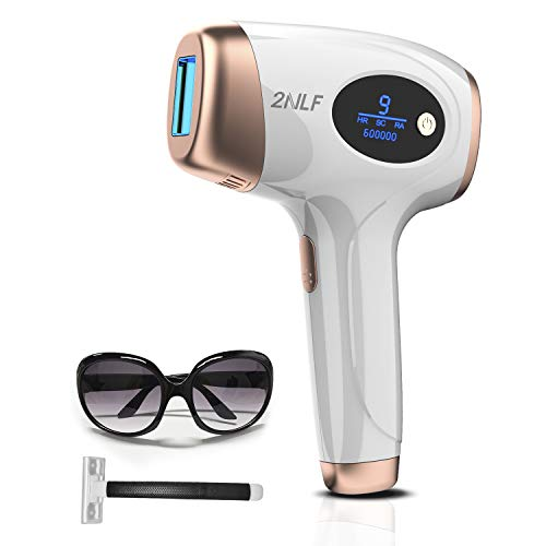 Depiladora de Luz Pulsada 2NLF 600,000 Flashes Disparos de Depilacion Permanente para Mujer y Hombre Maquina Laser Profesional Diodo para Facial, Espalda, Piernas y Zona Bikini