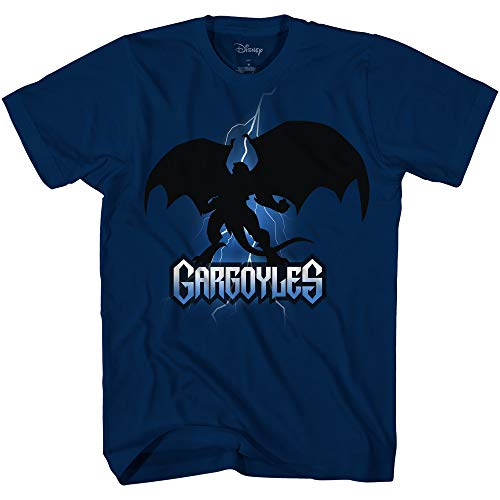 Disney Gargoyles Goliath Bolt Shadow Officially Licensed Adult T Shirt (Medium) Navy