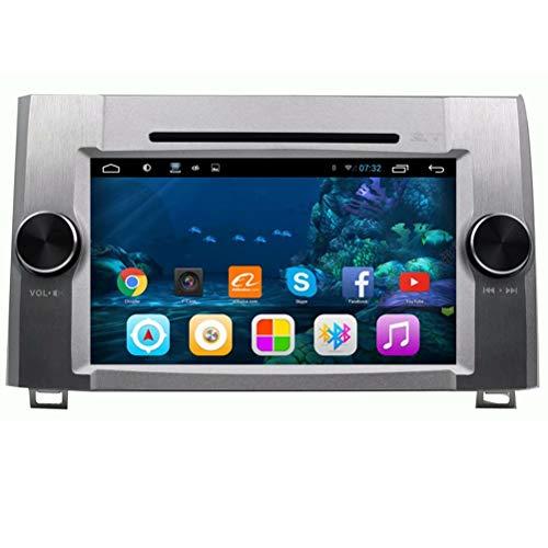 TOPNAVI Unité Principale 7 Pouces Android 7.1 Auto Media pour Toyota Tundra avec DVD 2012 2013 2014 2015 Voiture GPS Navigation Radio Stéréo WiFi 3G RDS Miroir Lien FM AM BT