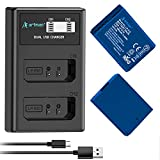 Artman Upgraded LP-E10 Battery and Dual LCD Charger for Canon EOS Rebel T6,...