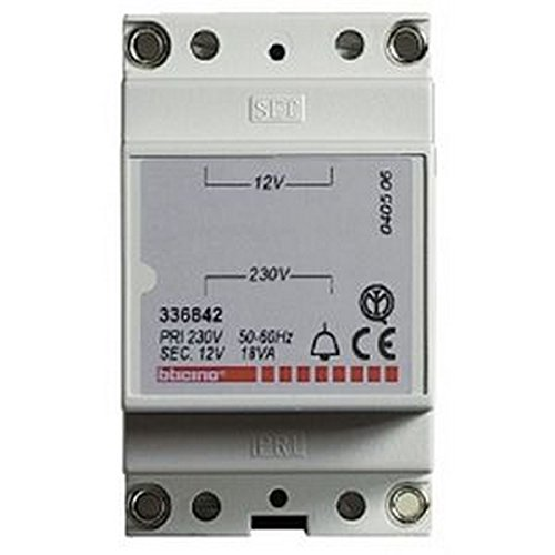 Bticino 336842–Transformador 230/12V 18VA