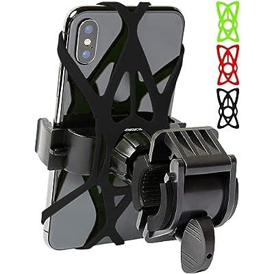 2017 Mongoora Bike Phone Mount for any Smart Phone: iPhone 7 /7+, 6 /6+, 5s, 5, Samsung Galaxy S7 /S7 Edge, S6, S5, S4, Nexus, Nokia, LG. Motorcycle, Bicycle Phone Mount. Bike Mount. Bike Accessories.