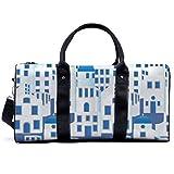 Bolsa de deporte para gimnasio, Santorini Grecia, bolsa de hombro, bolsa de viaje, bolsa de viaje para hombres y mujeres
