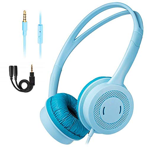 YAJIWU Headphones, 7.1 USB Surround Sound Stereo Gaming Headset Hidden Mic, Vibration, Noise-Canceling, Volume Control, Game Headphone,White (Color : Blue)