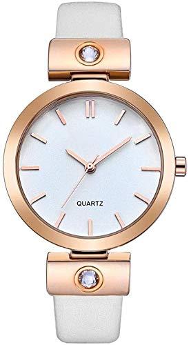Reloj para mujer, marca de lujo Retro, reloj de cuarzo de cuero impermeable