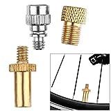 Gzh Adaptador de válvula 3pcs / Set Extensión de la válvula de aleación de Aluminio for Bicicleta Presta a la válvula Presta adaptadores + + for Presta (Color : A)