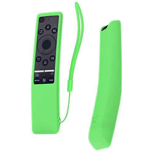 SIKAI Custodia Protettiva Compatibile con Telecomando Samsung UHD 4K Smart TV Bluetooth Remote Control RMCSPR1BP1   BN59-01312A Copertura Protettiva Cassa (Luminoso Verde)