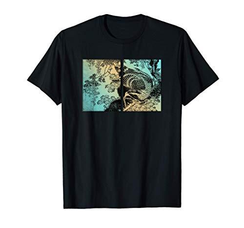 日本画版画 北斎木版画 日本画版画 Tシャツ