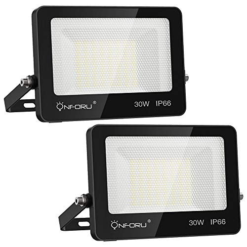 Onforu 30W Foco LED Exterior (2 Pack), 3000LM Super Potente...