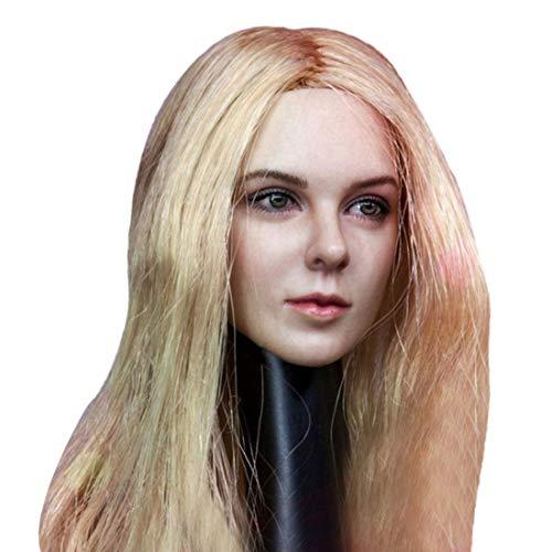 Batop Weibliche Kopf Sculpt für 1/6 Weiblich Action Figuren - Mit Gelbes langes Haar