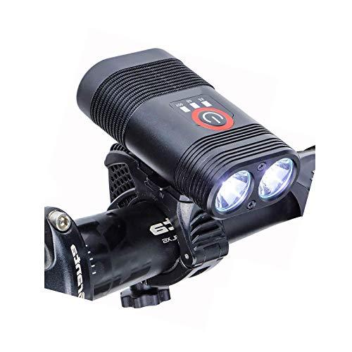 luckiner Juegos de luces para bicicleta USB recargable impermeable 360 giratorio delantero de bicicleta
