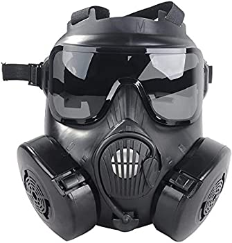 M50 Airsoft Protective Gas Mask Tactical Full Face Eye Protection Goggles Dummy Toxic Skull Gas Mask with Filter Fans for BB Gun Game Cosplay Halloween Masquerade Costume Props  No Anti-Gas Function