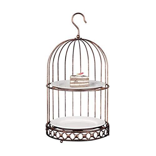 Corbeilles à fruits Plateau de fruits, Porte-fer forgé Vintage cage à oiseaux Décoration fruits, créatif Maison multi-fonction Portable Fruit Basket, vert bronze, 4 * 7.4 * 8.4 * 20 * 2.1 * 8.2 * 10.4