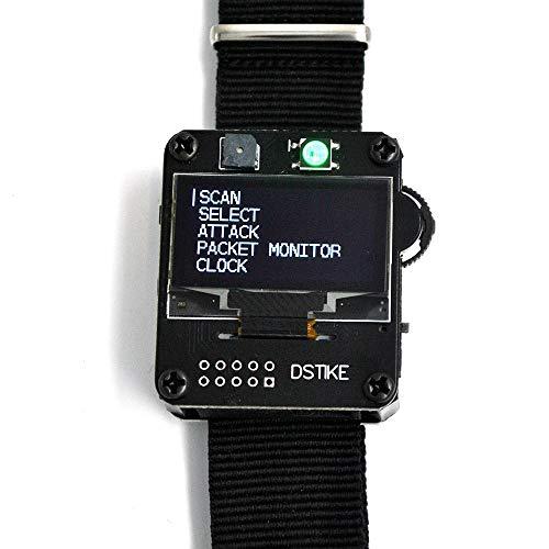 Kshzmoto Deauther Watch V1 Wearable WiFi ESP8266 Placa de Desarrollo programable con Correa de Reloj