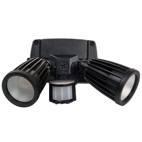 Sunlite LFX/OPF/20W/MS/PC/30K 20-watt 120-volt LED Outdoor PAR Fixture Lamp with Photo Control and Motion Sensor, Warm White