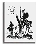 Artistic Home Gallery Don Quixote by Pablo Picasso Premium Stretched Canvas Art (Ready-to-Hang)