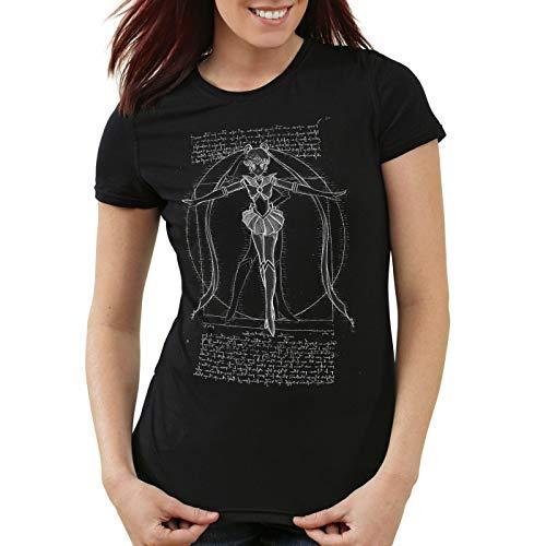 style3 Bunny de Vitruvio Camiseta para Mujer T-Shirt Luna Anime Sailor