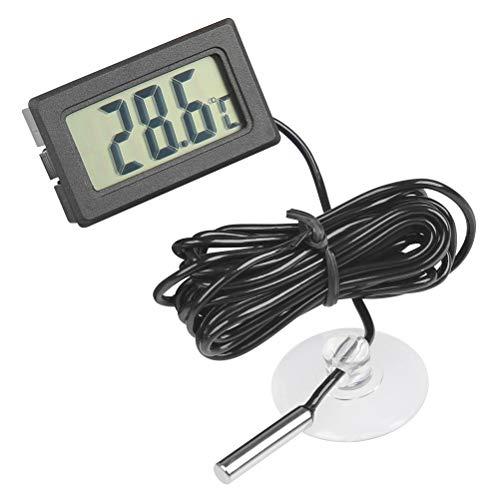 JAOMON LCD Medidor de Humedad y Temperatura Digital, Mini Termómetro, Termómetro de Inmersión Termómetro para el Hogar Termómetro de Agua de Acuario