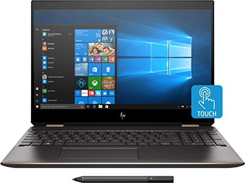 HP - Spectre x360 2-in-1 15.6' 4K Ultra HD Touch-Screen Laptop - Intel Core i7 - 16GB Memory - 512GB SSD - HP Finish In Dark Ash Silver, Sandblasted Finish