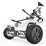 MARKBOARD Self Balancing Scooter 8.5'avec Hoverkart Electric Scooter avec Bluetooth Hoverboards E-Skateboard-LED Lights