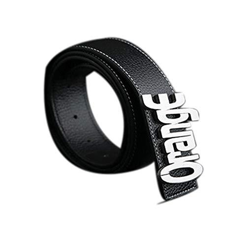 Souljewelry Cinturón de Cuero Real Personalizado para Hombres Cinturones de Hebillas Personalizada en su diseño Personalizar Nombre Logo de Empresa DIY Letras Regalo para Padre Novio Ancho 3.8cm