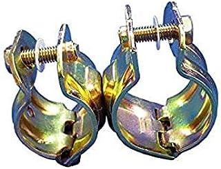 【20個入】 単管 緊結 クランプ パイプくめーる Φ28.6 から 31.8 x Φ42.7 から 48.6 用 首振り(自在) J-1017 専用工具不要の簡易的なミニクランプ パイプくめ~る just