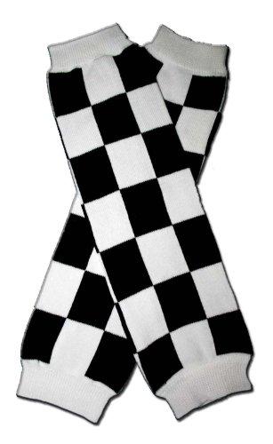 RACE CAR CHECKER FLAG - Baby Leggings/Leggies/Leg Warmers - Little Girls & Boys & ONE SIZE by