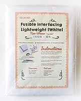 MAROBEE ホワイト 可溶性 インターフェーディング 軽量 不織布 裁縫やウェビングプロジェクト用 超粘着ボンド アイロン接着 片面 - カッタウェイ刺繍スタビライザー DIY クラフト (40インチ x 3ヤード)