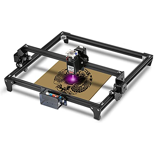 Twotrees Totem Laser Engraver Machine 5500mw Portable Desktop Engraver 400x300mm 12V USB with Laser Protective Glasses for Stainless Steel Wood Plastic Bamboo Leather Sponge Paper
