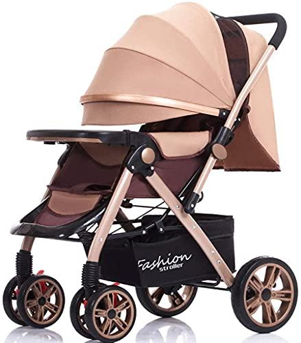 Cochecito liviano recién nacido bebé carruaje bebé cochecitos bebé cochecito de bebé cochecito de dos vías plegable puede sentarse reclinable amortiguador amortiguador mosquito net taza rack carro de
