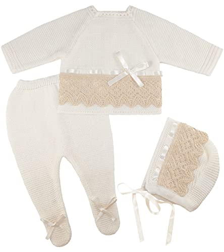 Newborn Baby Knitted Clothes Set, Coming Home or Any Occasion Knit...