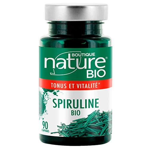 Boutique Nature - Complément Alimentaire - Spiruline BIO - 90 Comprimés -  Améliore  tonus et vitalité, en cas de fatigue passagère